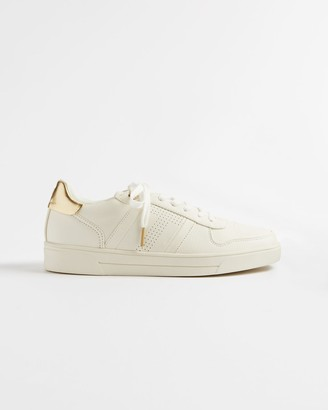 Ted Baker Perforated T Detail Trainers