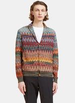 Missoni Men's Zigzag Knit Cardigan In Multicolour