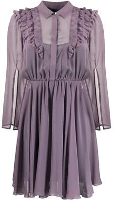 Patrizia Pepe ruffle trim long sleeve dress