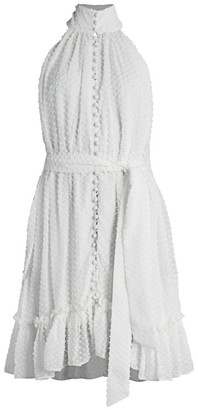 Zimmermann Wavelength Swiss Dot Silk Dress