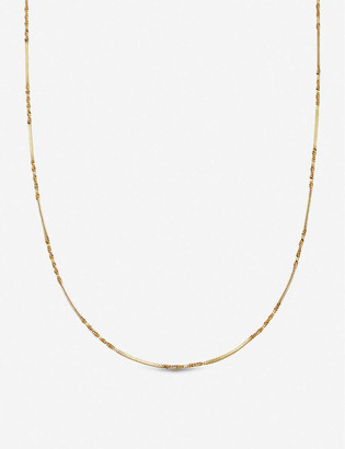 Missoma Isa twisted-chain 18ct gold-plated vermeil silver necklace