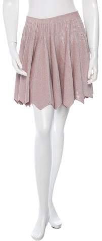 Alaia Open Knit Mini Skirt w/ Tags