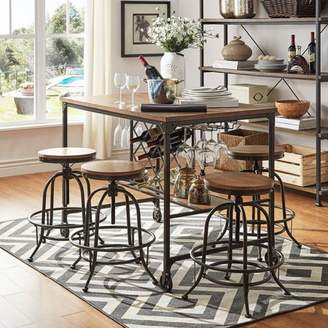 Clayton Weston Home 5-Piece Counter Height Dining Stools Set