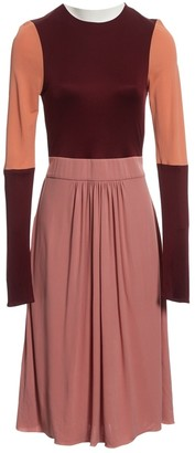 Issa Burgundy Silk Dresses