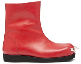 Charles Jeffrey Loverboy X Roker Lion Claw Leather Boots - Womens - Red