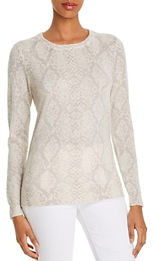 Bloomingdale's C by Snake Print Cashmere Sweater - 100% Exclusive
