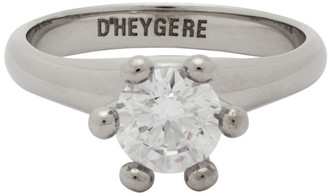 D'heygere Dheygere Silver Solitare Pinky Ring