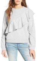 Women's Love, Fire Ruffle Front Sweatshirt