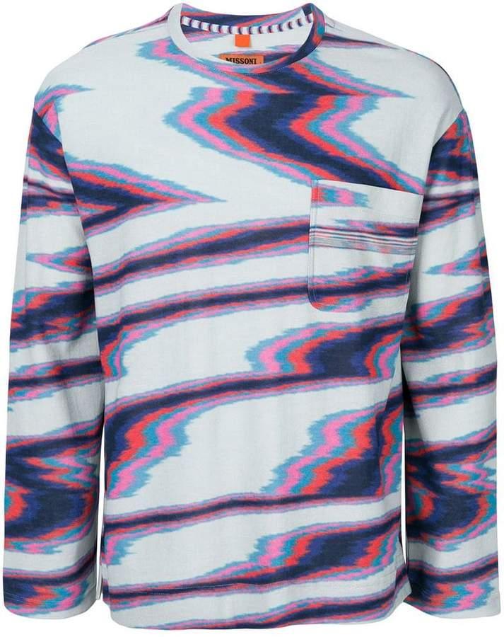 Missoni illusion effect sweatshirt