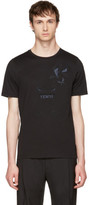 Fendi Black Butterfleyes and Frogs T-shirt