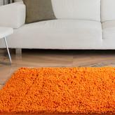 Lavish Home High Pile Orange Solid Area Rug Rug