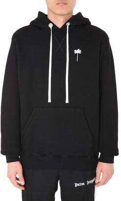 Palm Angels Drawstring Hooded Sweatshirt
