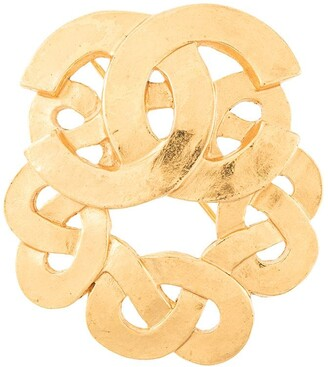 Chanel Pre Owned CC logos brooch