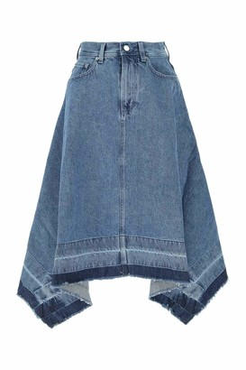 J.W.Anderson Asymmetric Raw Hem Skirt