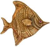 Buccellati 18K Pink Sapphire Fish Brooch