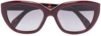 Prada Two-Tone Cat-Eye Frames Sunglasses