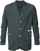 Undercover striped blazer - men - Cotton/Polyurethane/Cupro - 3
