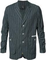 Undercover striped blazer - men - Cotton/Polyurethane/Cupro - 3
