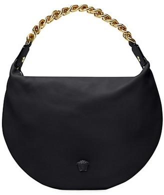 Versace Medusa Chain Leather Hobo Bag