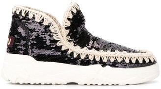 Mou Eskimo sequinned ankle boots