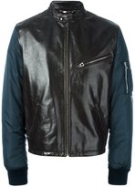 Dolce & Gabbana leather panel bomber jacket