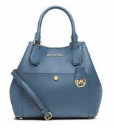 Michael Kors Stylish Waterproof Greenwich Large Saffiano Leather Satchel