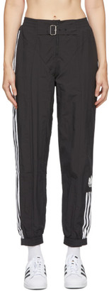 adidas Black Paolina Russo Edition Striped Track Pants