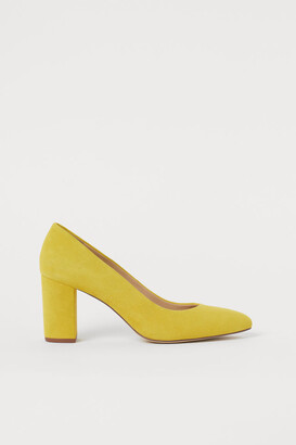 H&M Suede Pumps - Yellow