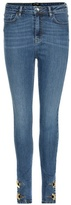 Anthony Vaccarello Embellished High-rise Skinny Jeans