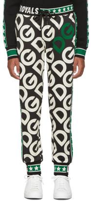 Dolce & Gabbana Black Royals Lounge Pants