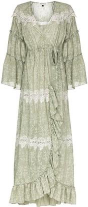 Masterpeace Lace Trim Wrap Dress