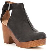 Free People Amber Orchard Leather Side Cutout Buckle Strap Clogs