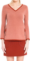 Max Studio Heathered Bonded Jersey Pullover