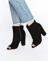 Miss KG Sybil Peeptoe Scrunch Heeled Ankle Boots