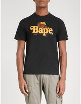 A Bathing Ape Mens Black Small Comfortable Milo Cotton-Jersey T-Shirt