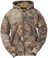 Caterpillar Men's Camo Full-Zip Hooded Sweatshirt