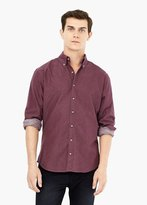 Mango Outlet Slim-Fit Cotton Oxford Shirt