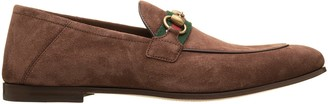 Gucci Horsebit And Web Suede Leather