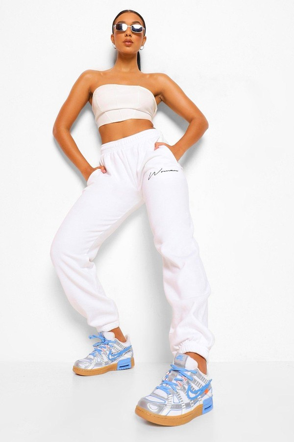 Thumbnail for your product : boohoo Woman Script Joggers