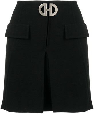 Céline Pre-Owned Pre-Owned Buckled Box-Pleat Mini Skirt
