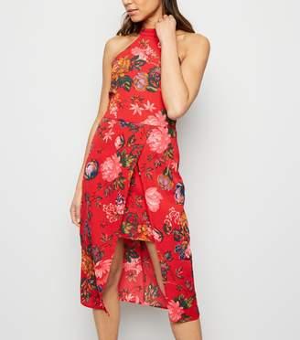 New Look AX Paris Floral Overlay Dress