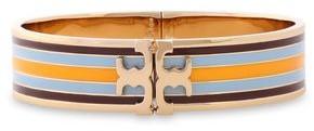Tory Burch Gold-tone Striped Enamel Bracelet