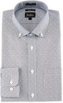 Neiman Marcus Extra Trim Fit Regular-Finish Dot-Print Dress Shirt, Navy/White