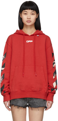 Off-White Red Caravaggio Arrows Slim Hoodie