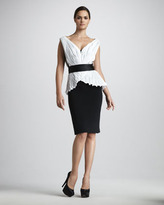 Notte by Marchesa Belted Combo Dress