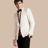 Burberry Slim Fit Cotton Silk Half-canvas Tuxedo Jacket