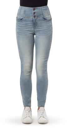 No Boundaries Juniors' 3-Button Corset Jeans