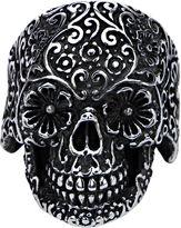 FINE JEWELRY Stainless Steel Dia de los Muertos Skull Ring