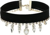 """GUESS Choker with Stones Gold Necklace, 12""""+2"""" Extender"""
