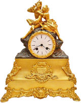 One Kings Lane Vintage French Doré Bronze Mantel Clock